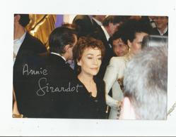 ANNIE GIRARDOT PHOTO AVEC AUTOGRAPHE 1998 - Autographs