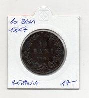 Romania - 1867 - 10 Bani - (MW1240) - Romania