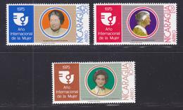 NICARAGUA AERIENS N°  892 à 894 ** MNH Neufs Sans Charnière, TB (D7197) Année De La Femme - Nicaragua
