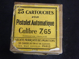 TRES ANCIENNE BOITE DE 7.65 POUR COLLECTION - Militaria