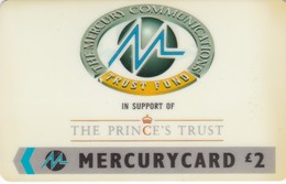 Mercury, MER195, The Prince's Trust. 2 Scans.   20MERA/W - United Kingdom