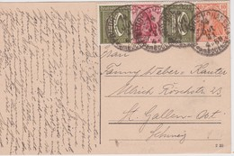 ALLEMAGNE 1921 CARTE POSTALE POUR ST.GALL - Allemagne