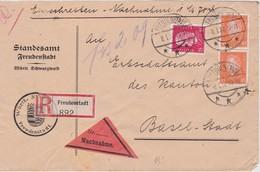 ALLEMAGNE 1932 LETTRE RECOMMANDEE EN CONTRE-REMBOURSEMENT DE FREUDENSTADT  AVEC CACHET ARRIVEE BALE - Deutschland