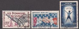 Frankreich  (1959)  Mi.Nr.  1264 + 1265 + 1266  Gest. / Used  (1ek02) - France