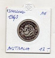 Australia - 1943 - 1 Shilling -  Giorgio VI° - Argento - (MW1242) - Australia