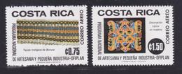 COSTA RICA AERIENS N°  668 & 669 ** MNH Neufs Sans Charnière, TB (D7198) Artisanat Et Petite Industrie - Costa Rica