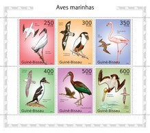 GUINEA BISSAU 2010 - Seabirds, Flamingo - YT 3547-52 - Flamingo