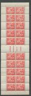 Iris 1f. Rouge Bloc De 20 Pour Carnets Avec Bords, Neuf** SUP X1140 - Libretti