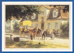 Post; 500 Jahre; Mittagrast Vor Einer Poststation Von Paul Hey - Poste & Facteurs