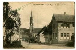 CPA 68 Haut-Rhin Pfeterhausen Vue De L'Eglise Animé - France