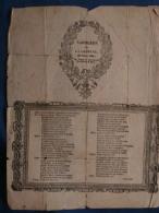 Napoléon Sur La Colonne, Parole Chanson De Goguette De 1833 (Guillemé) Sur Papier D'époque L381 - Other