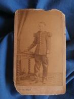 Photo CDV Duval à Tours - Second Empire Militaire Jeune Cavalier Du 9e Dragon Vers 1870 L381 - Photos