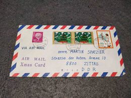 JAPAN CIRCULATED COVER MULTI STAMP HIGASHIKURUME TO ZITTAU GERMANY 1982 - Lettres & Documents