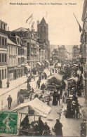 27 PONT-AUDEMER  Rue De La République - Le Marché - Pont Audemer
