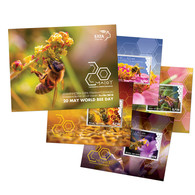 GREECE STAMPS 2018/20 MAY WORLD BEE DAY  S/S(7000pcs Numbered)-  20/5/18-MNH-COMPLETE SET - Griekenland