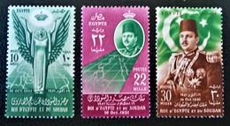 ROYAUME - PREMIERS JEUX MEDITERRANEENS 1952 - NEUFS ** - YT 285/87 - MI 387/89 - Egypt