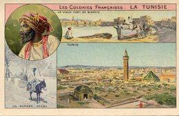 TUNISIE(BIZERTE_TUNIS) PUBLICITE DE THE C.COLONIALE - Tunesië