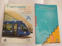 MONTPELLIER : TRAMWAY LIGNE 1 - Lot De 2 Brochures  District De Montpellier Et SMTU - Détails Sur Les Scans - Trains