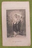 Petite Image Pieuse XIXème - St Joseph - Ch. Letaille, édit, Paris - Images Religieuses