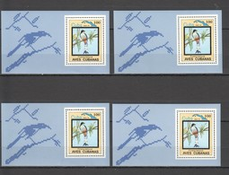 W970 1983 CUBA FAUNA BIRDS 4BL MNH - Adler & Greifvögel