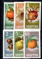 290 - 490 - ALBANIA 1965 ,    Yvert N. 738/743 ***  MNH . FRUTTI - Albania