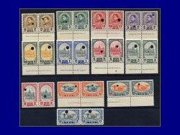 THAILANDE  Yvert:234/45, En Paires Avec Perforations De Controle: Série Courante 1941      - Qualité: XX . Cote: –– - Thailand