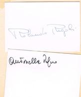 AUTOGRAPHES - JEUX OLYMPIQUES - ITALIE - RIGOLI - RAGNO - ESCRIME - - Autographs