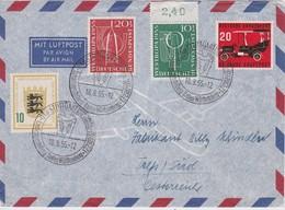 RFA 1955 LETTRE DE STUTTGART - Cartas