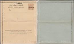 Bosnia And Herzegovina Military Field Post, Mi K8 (1905), Overprinted 'Feldpost - Portofrei' (1916 -1918). - Entiers Postaux