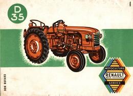 BUVARD TRACTEUR RENAULT D 35 - Agriculture