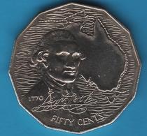 AUSTRALIA 50 CENTS 1970  James Cook 1770 - Monnaie Décimale (1966-...)