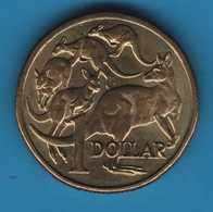 AUSTRALIA 1 DOLLAR 1984 KM# 77 ANIMAL 5 Kangaroos - Decimal Coinage (1966-...)