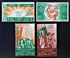 ROYAUME - COUP D'ETAT DU 23 JUILLET 1952 - NEUFS ** - YT 307/10 - MI 391/94 - Egypt
