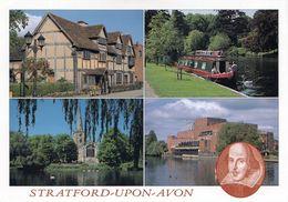 1 AK England * Ansichten Von Stratford-upon-Avon - U.a. Das Geburtshaus Von William Shakespeare * - Stratford Upon Avon