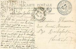 Cachet Perlé SALLES SUR MER 17 Et OR Sur Cpa NANTES Musée Dobrée 1911 - Marcophilie (Lettres)