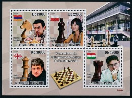 D- [401650] **/Mnh-Sao Tomé-et-Principe 2009 - Vainceur Olympique D'échecs De Dresden, Célébrités - Echecs