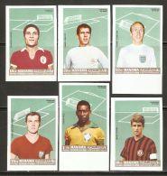 Manama 1968 Mi# A 106-F 106 B ** MNH - Imperf. - Football / Soccer: International Top Player - Football