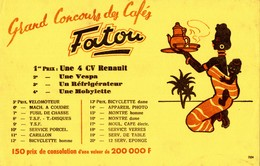 Buvard  GRAND CONCOURS DES CAFES  FATOU - Coffee & Tea