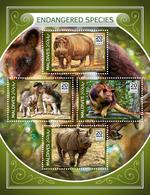 MALDIVES 2018 - Rhinoceros, Endangered Sp. Official Issue - Rhinozerosse