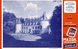 Buvard   LA PILE MAZDA  (cote D Or Bussy Le Garnd Chateau  ) - Piles