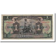 Billet, Bolivie, 1 Boliviano, 1911, 1911-05-11, KM:102a, TB - Bolivie