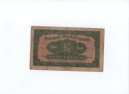 CA25 Guyane Guiana Billet De Banque 100 Francs Type Américain  (carte) (Kolsky 209) - Guyana Francesa
