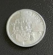 SPAGNA  ESPANA - 1989 - Moneta 1 PESETA  JUAN CARLOS , Formato Micro,  Ottima - [ 5] 1949-… : Regno