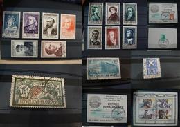 France - Pièces Choisies - Timbres Oblitérés Dont Personnages Célèbres De 1954 - Cote + 300 - Stamps