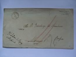 ITALY 1860 Stampless Wrapper Pozzolengo To Brescia With Official Pozzolengo Cachet - ...-1850 Préphilatélie