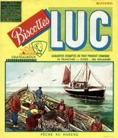 Buvard  BISCOTTES LUC  PÈCHE  AU HARENG - Buvards, Protège-cahiers Illustrés