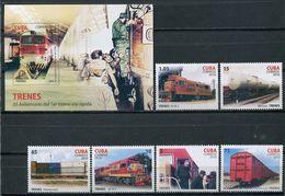 Cuba 2010 / Railways Trains MNH Trenes Züge / Cu8523  C3 - Trenes