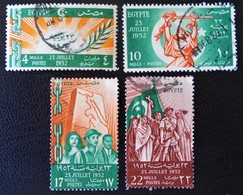 ROYAUME - COUP D'ETAT DU 23 JUILLET 1952 - OBLITERES - YT 307/10 - MI 391/94 - Egypt