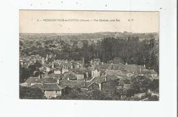 MONCONTOUR DE POITOU (VIENNE) 2 VUE GENERALE COTE EST (CACHET DE TRAIN MONTREUIL BELLAY A POITIERS TYPE III) 1921 - Autres Communes