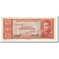 Billet, Bolivie, 50 Pesos Bolivianos, L.1962, 1962-07-13, KM:156a, TTB - Bolivie